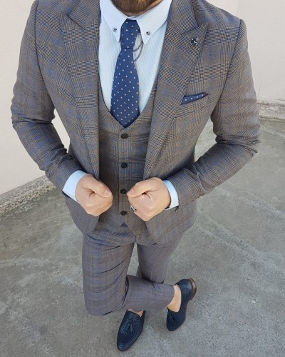Camel Patterned Suit by Gentwith.com with Free Shipping
