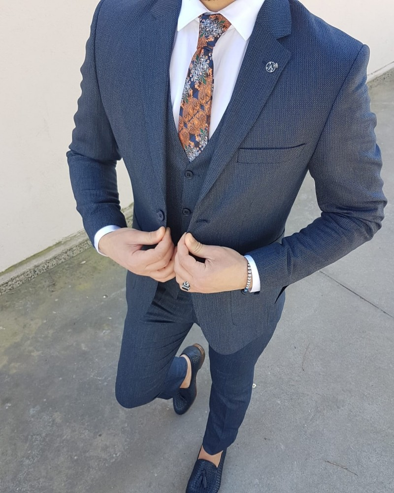 Navy Blue Suit by Gentwith.com with Free Shipping