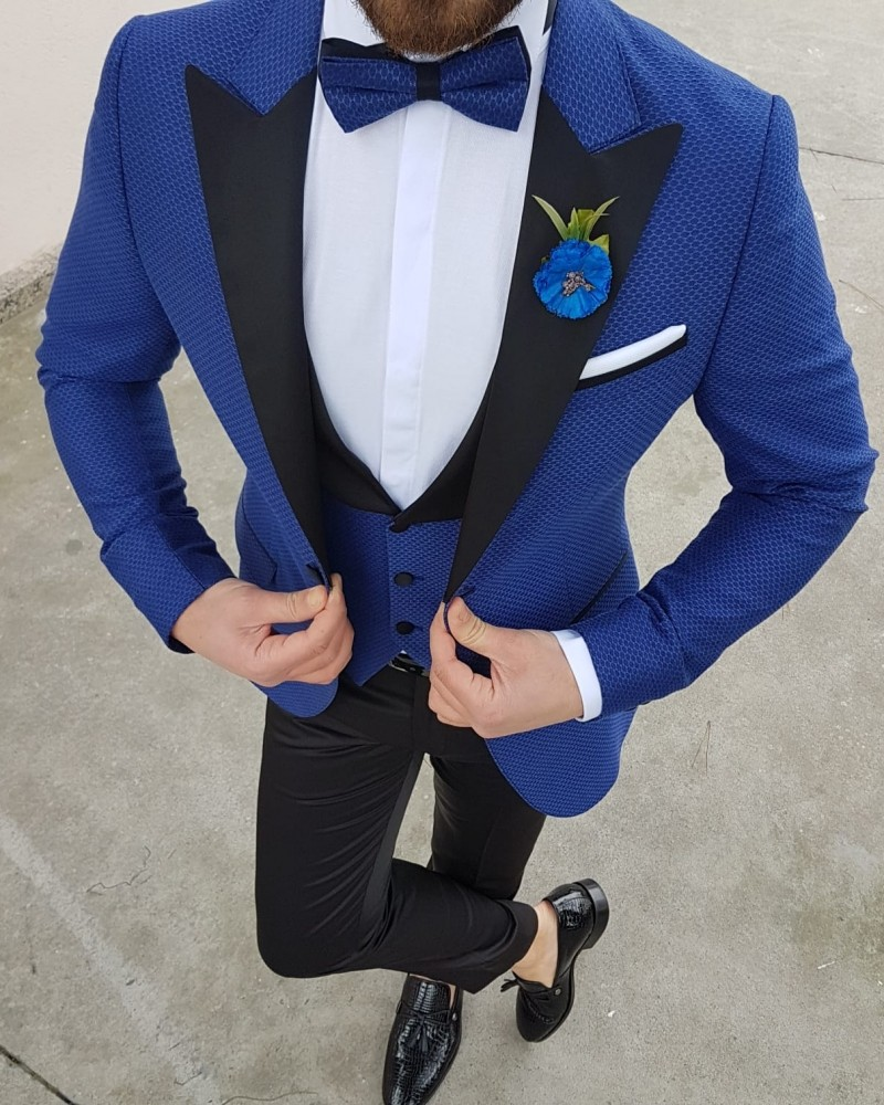 Sax Slim Fit Tuxedo by Gentwith.com with Free Shipping