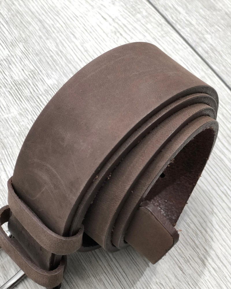 Brown Leather Belt by Gentwith.com with Free Shipping
