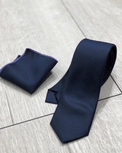 Navy Blue Tie by Gentwith.com with Free Shipping