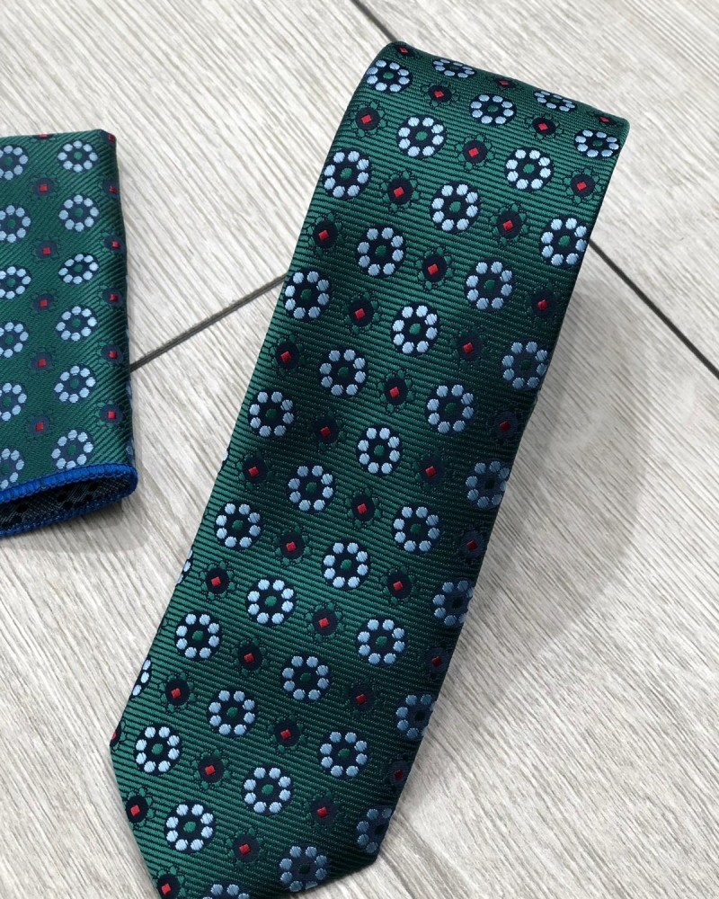 Green Floral Tie by Gentwith.com with Free Shipping