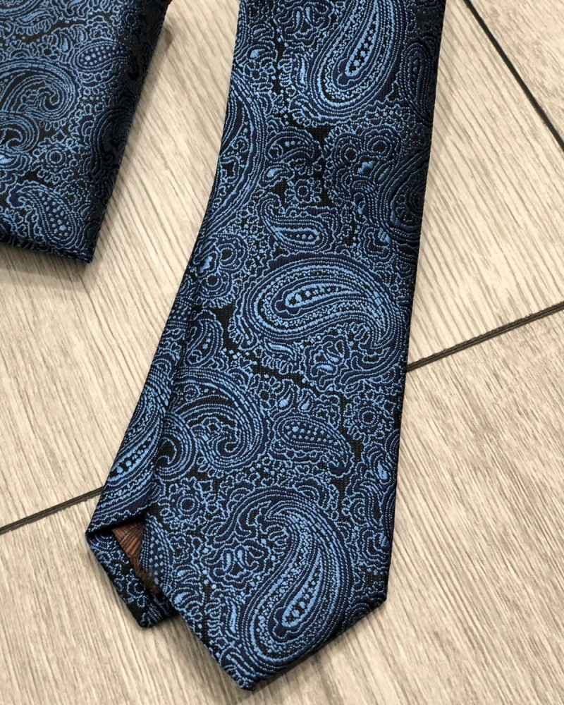 Black Floral Tie by Gentwith.com with Free Shipping