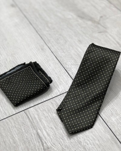 Green Dotted Tie by Gentwith.com with Free Shipping