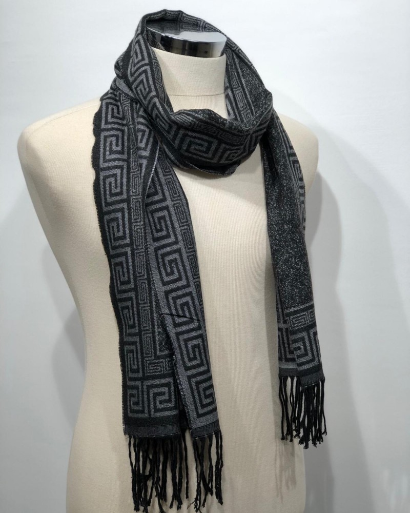 Gray Patterned Scarf by Gentwith.com with Free Shipping