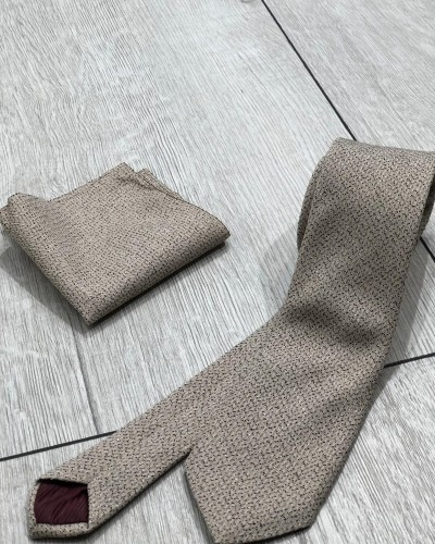 Beige Tie by Gentwith.com with Free Shipping