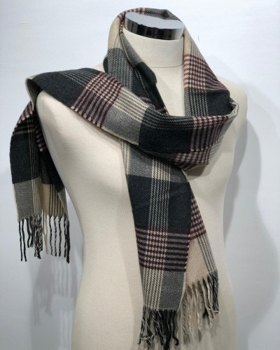 Black Patterned Scarf by Gentwith.com with Free Shipping