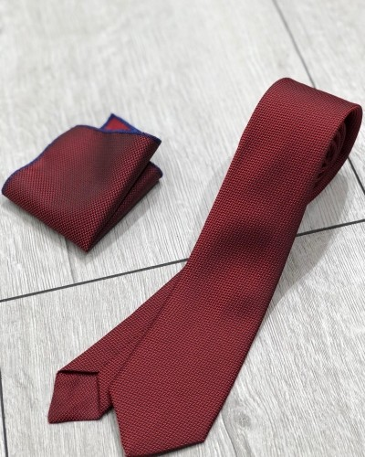 Claret Red Tie by Gentwith.com with Free Shipping