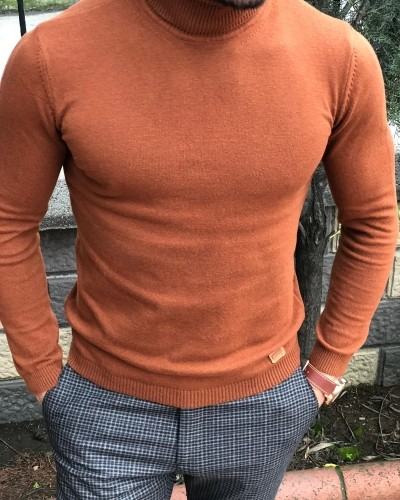 Tile Slim Fit Turtleneck Sweater by Gentwith.com with Free Shipping
