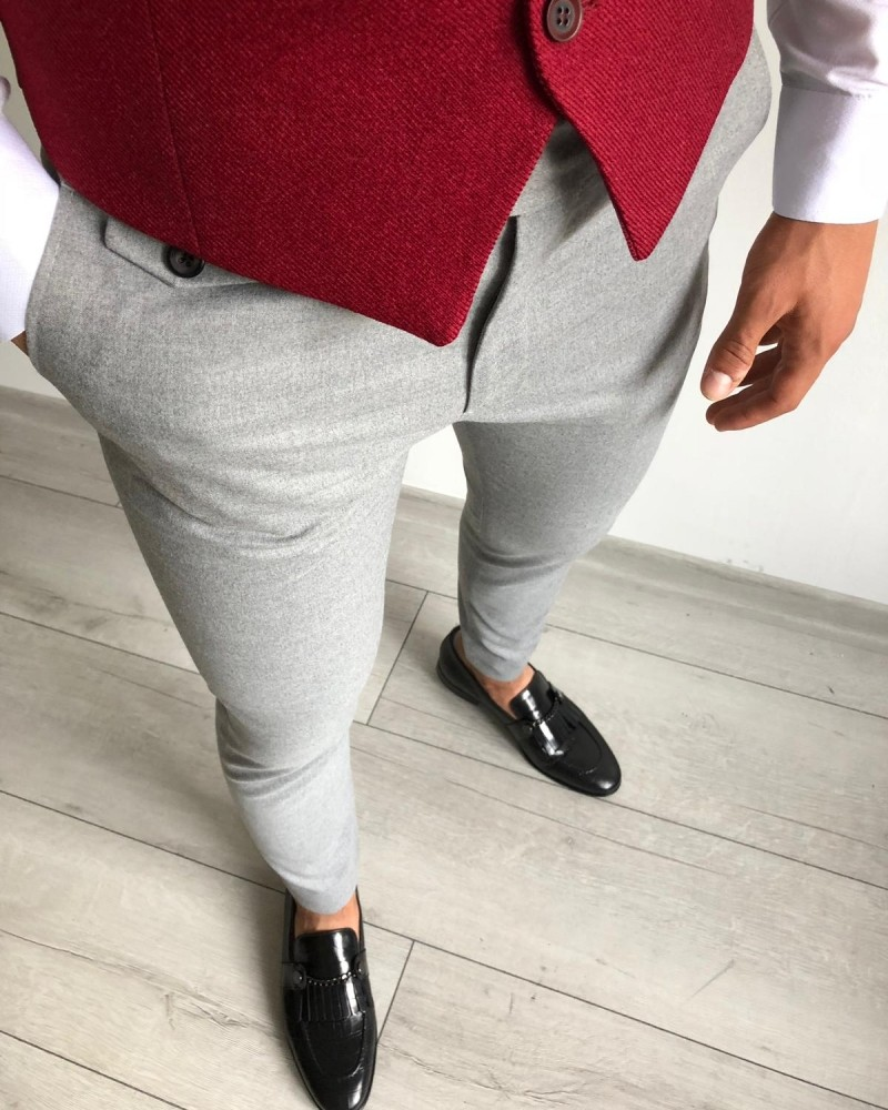 Gray Men's Pants by Gentwith.com with Free Shipping
