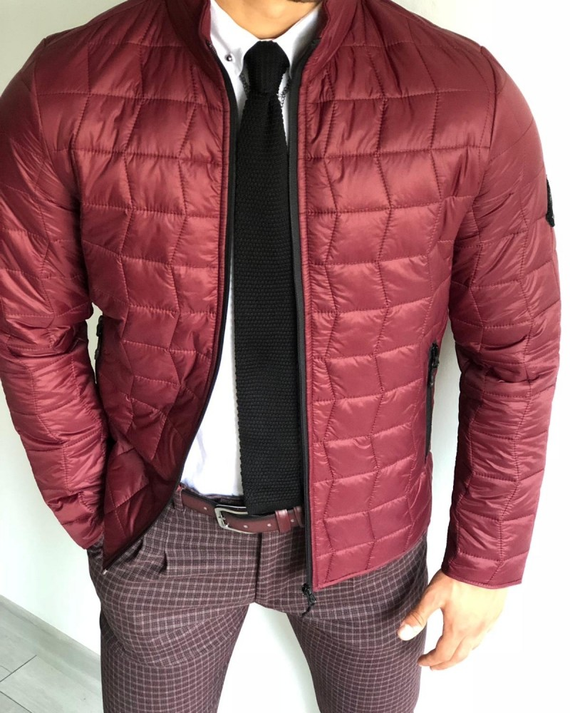 Claret Red Inflatable Jacket by Gentwith.com with Free Shipping