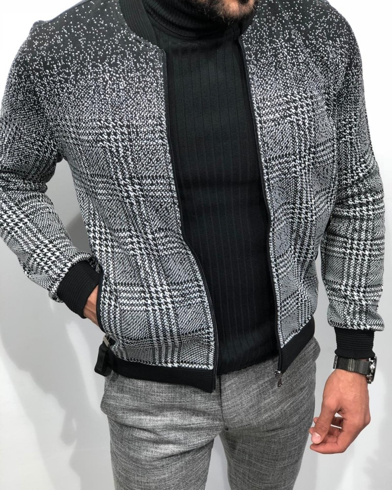 Black Slim Fit Jacket by Gentwith.com with Free Shipping