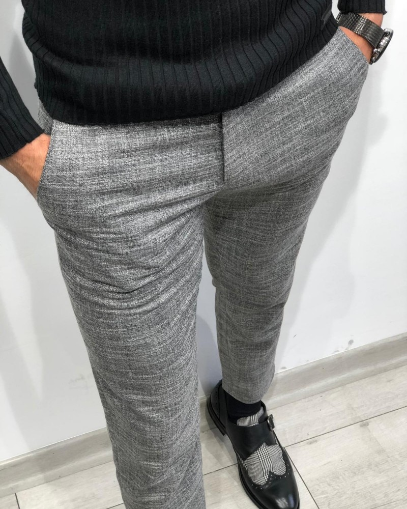 Gray Pants by Gentwith.com with Free Shipping