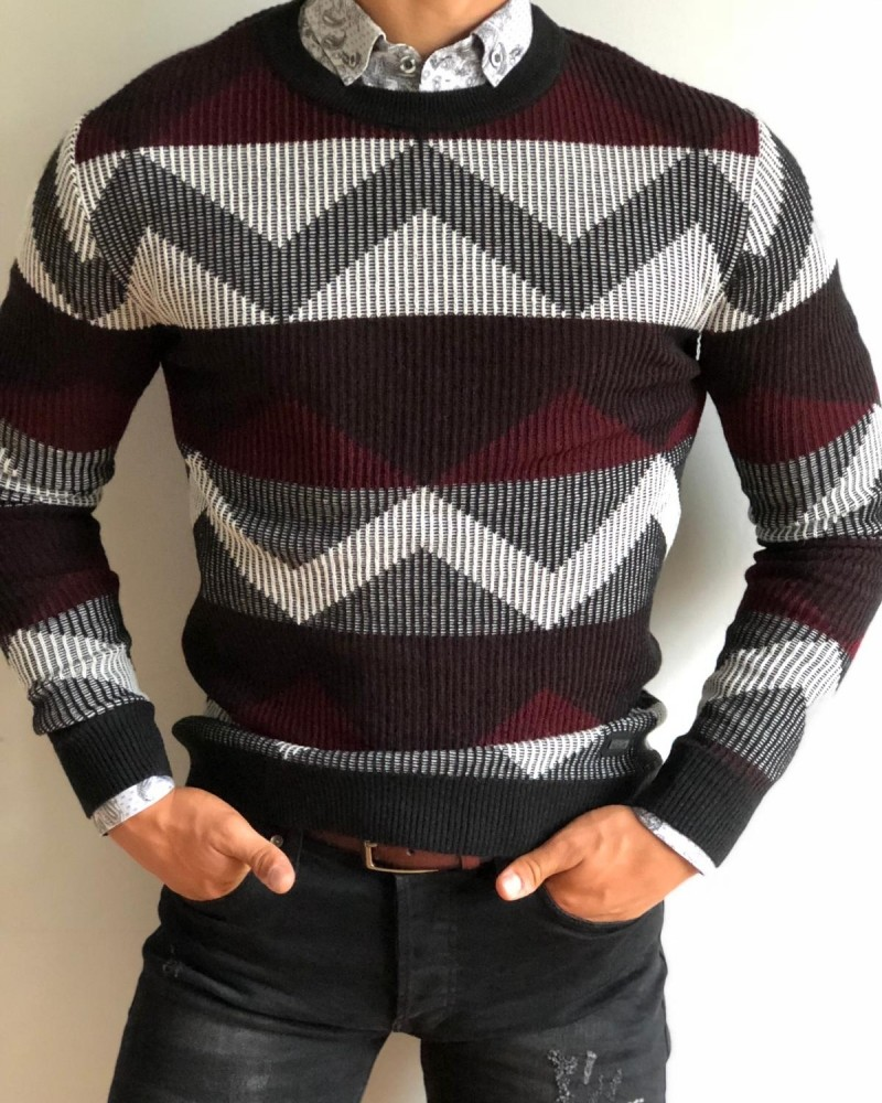 Black Men's Sweater by Gentwith.com with Free Shipping