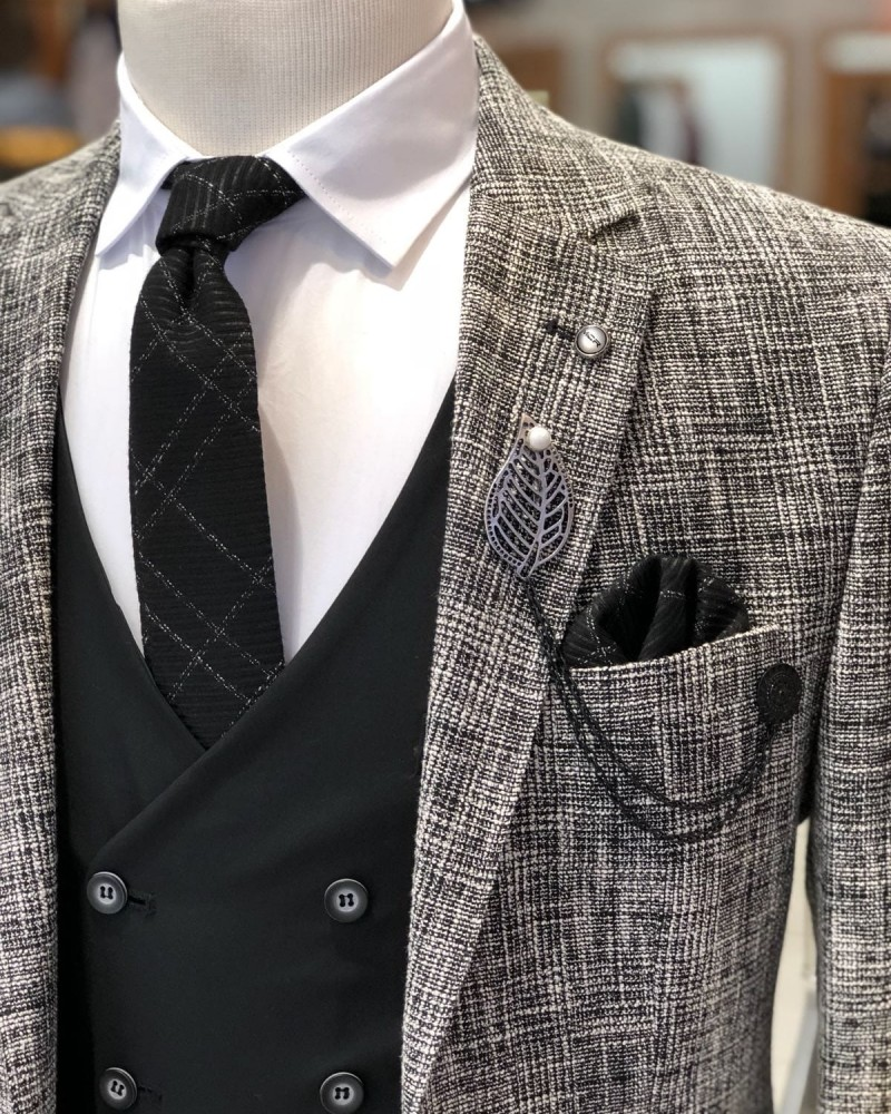 Black Slim Fit Men's Suit by Gentwith.com with Free Shipping