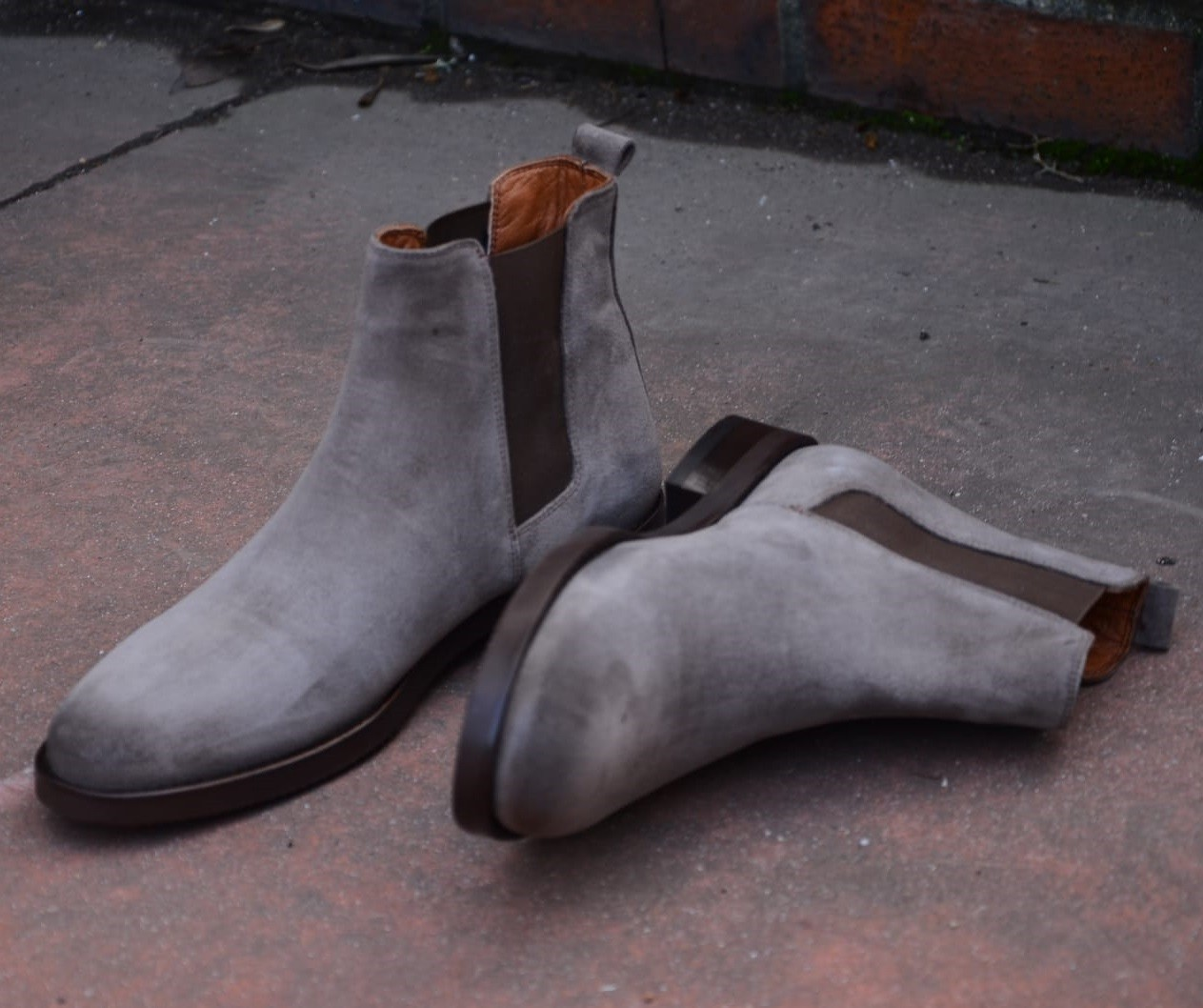 6773bb1c2cc19 Buy Beige Suede Chelsea Boot by Gentwith.com with Free Shipping