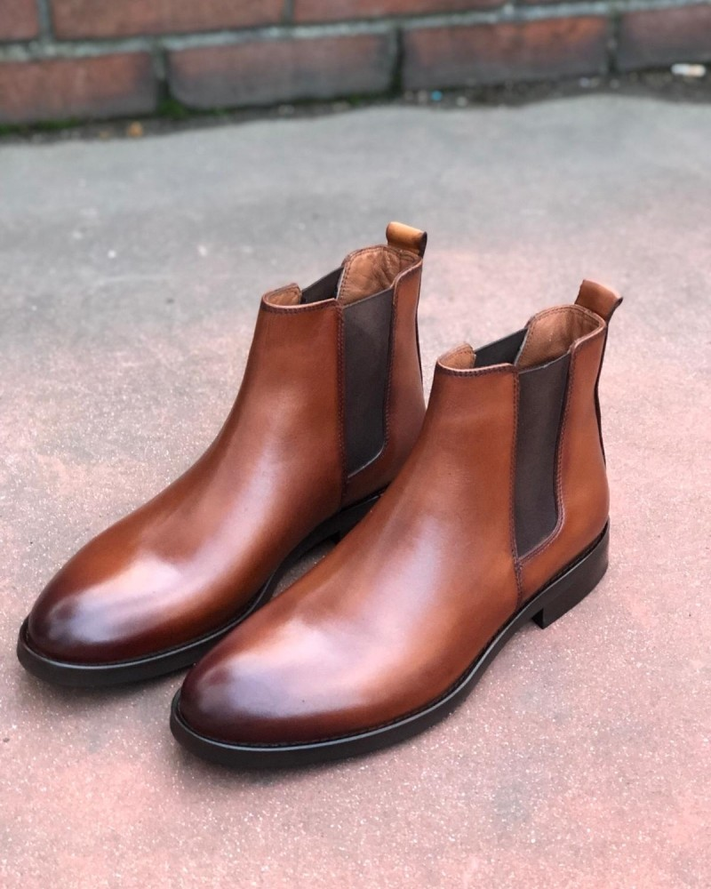 Camel Chelsea Boot by Gentwith.com with Free Shipping
