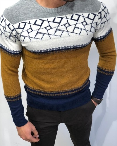 Camel Slim Fit Sweater by Gentwith.com with Free Shipping