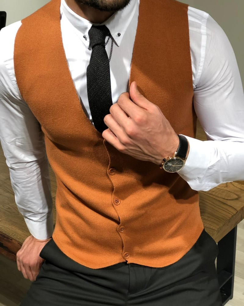 Tile Slim Fit Vest by Gentwith.com with Free Shipping