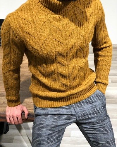 Taba Slim Fit Turtleneck Sweater by Gentwith.com with Free Shipping