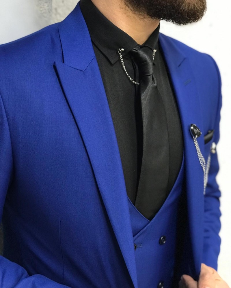 Sax Slim Fit Wool Suit by Gentwith.com with Free Shipping