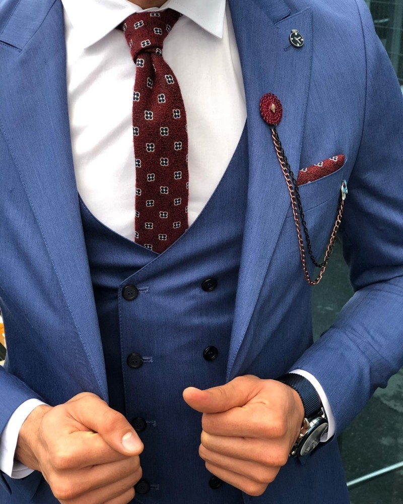 Indigo Slim Fit Suit by Gentwith.com with Free Shipping