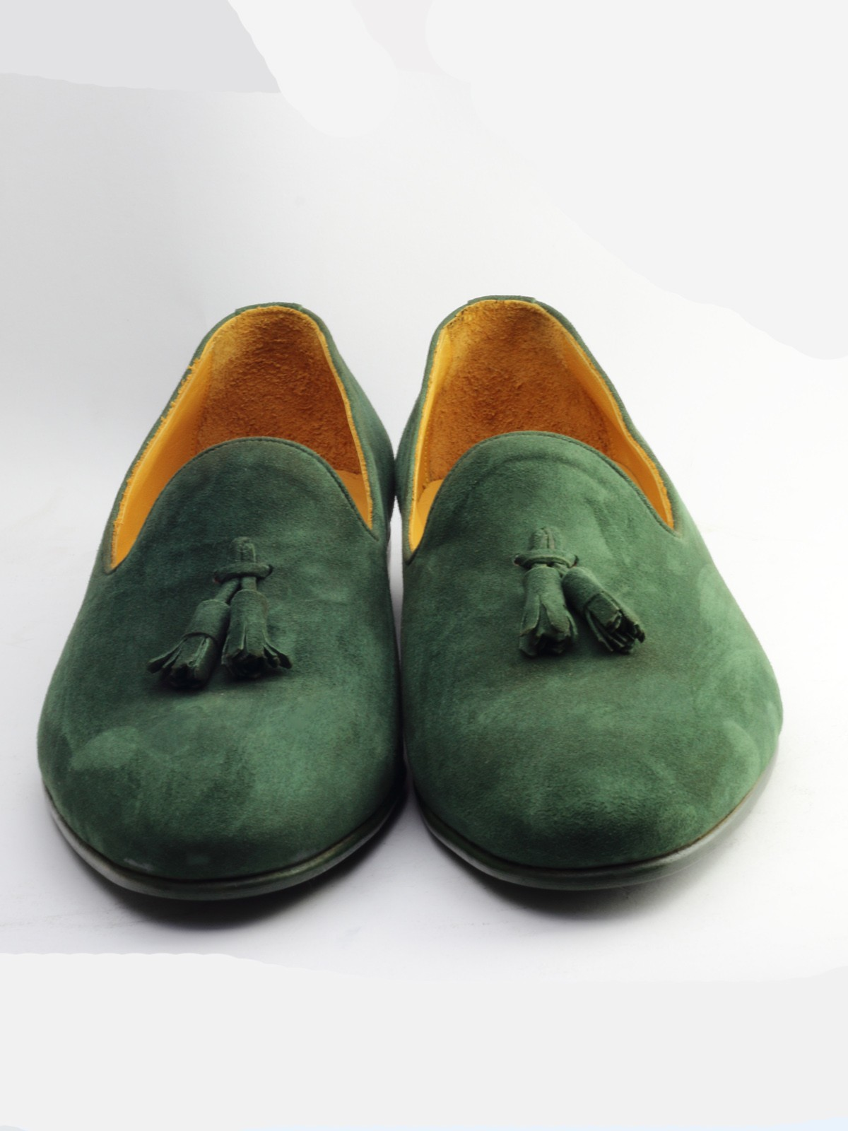 Buy Green Suede Bespoke Shoes by
