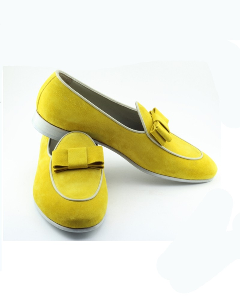 Lemon Handmade Calf Leather Bespoke Shoes by Gentwith.com with Free Shipping