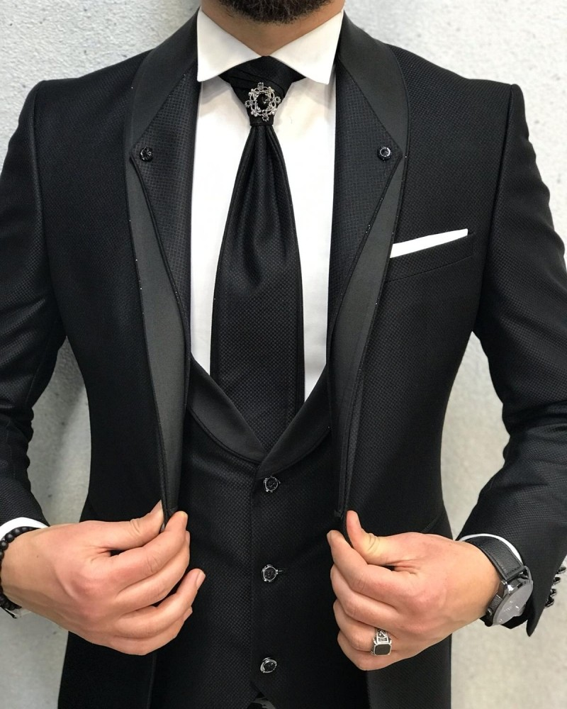 Black Groom Suit by Gentwith.com with Free Shipping