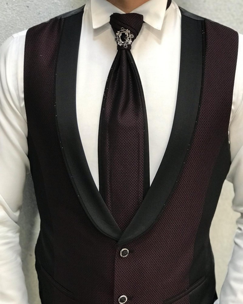 Claret Red Groom Suit by Gentwith.com with Free Shipping