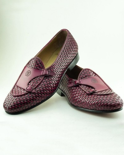 Crimson Handmade Calf Leather Bespoke Shoes by Gentwith.com with Free Shipping