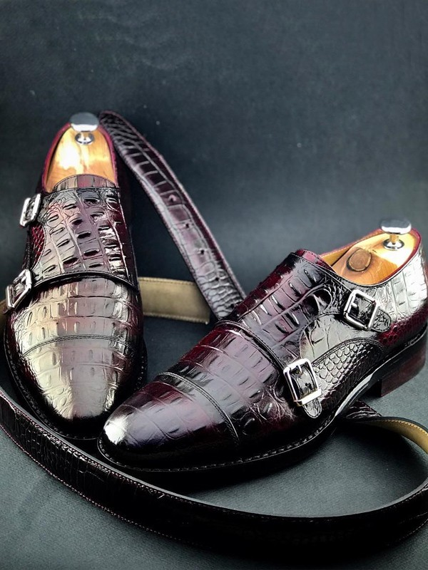 Brown Handmade Calf Leather Bespoke Shoes by