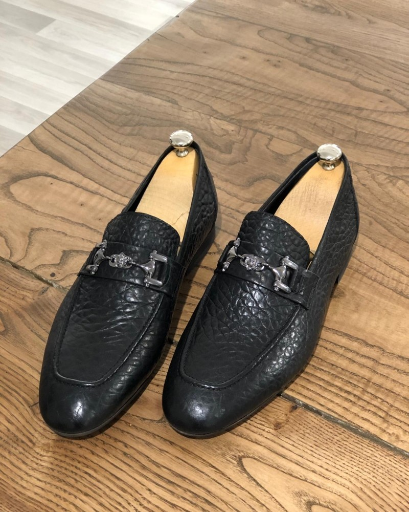 Black Leather Loafer by Gentwith.com with Free Shipping