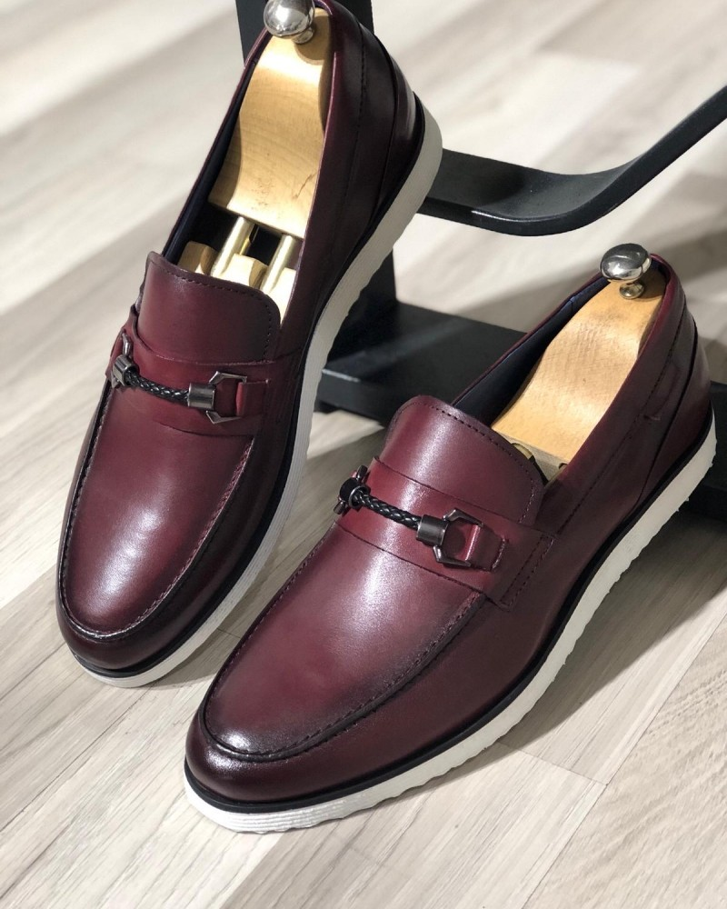 Claret Red Loafer by Gentwith.com with Free Shipping