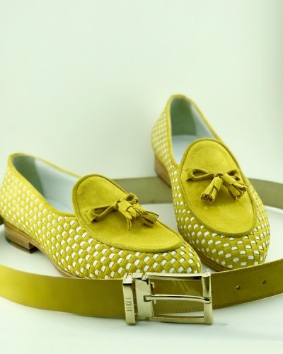 Lemon Handmade Calf Leather Suede Bespoke Shoes by Gentwith.com with Free Shipping