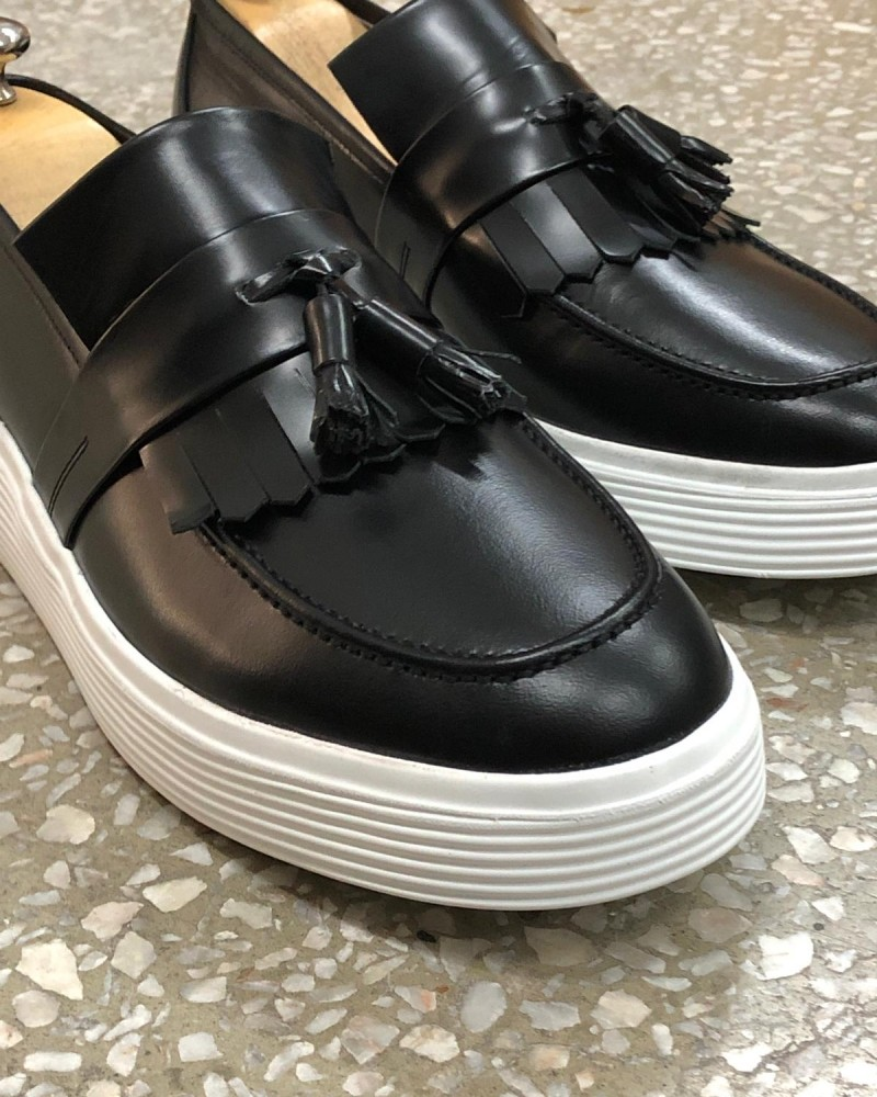 Black Tassel Espadrille Loafer by Gentwith.com with Free Shipping