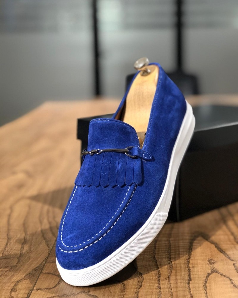 Sax Suede Kilt Espadrille Loafer by Gentwith.com with Free Shipping