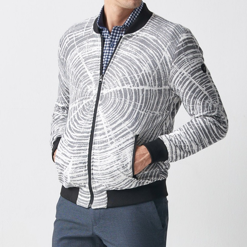 White Slim Fit Jacket by Gentwith.com with Free Shipping