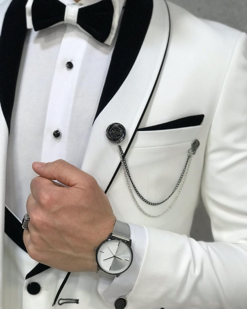 Men's White Tuxedo by GentWith.com with Free Shipping