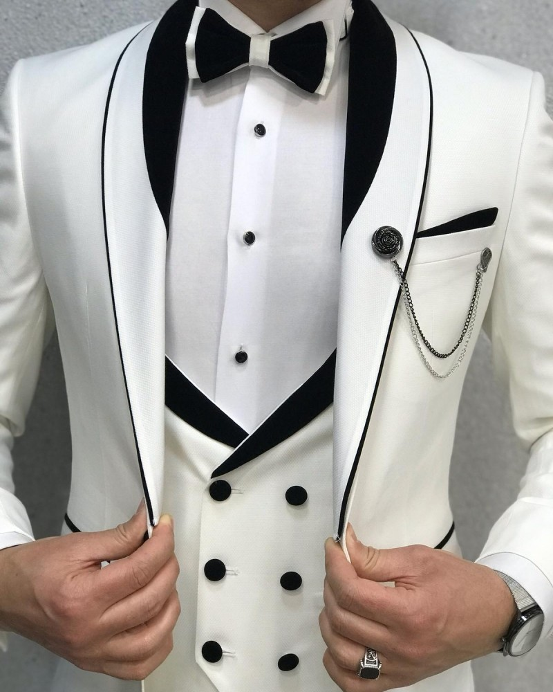 White Men's Tuxedo by GentWith.com with Free Shipping