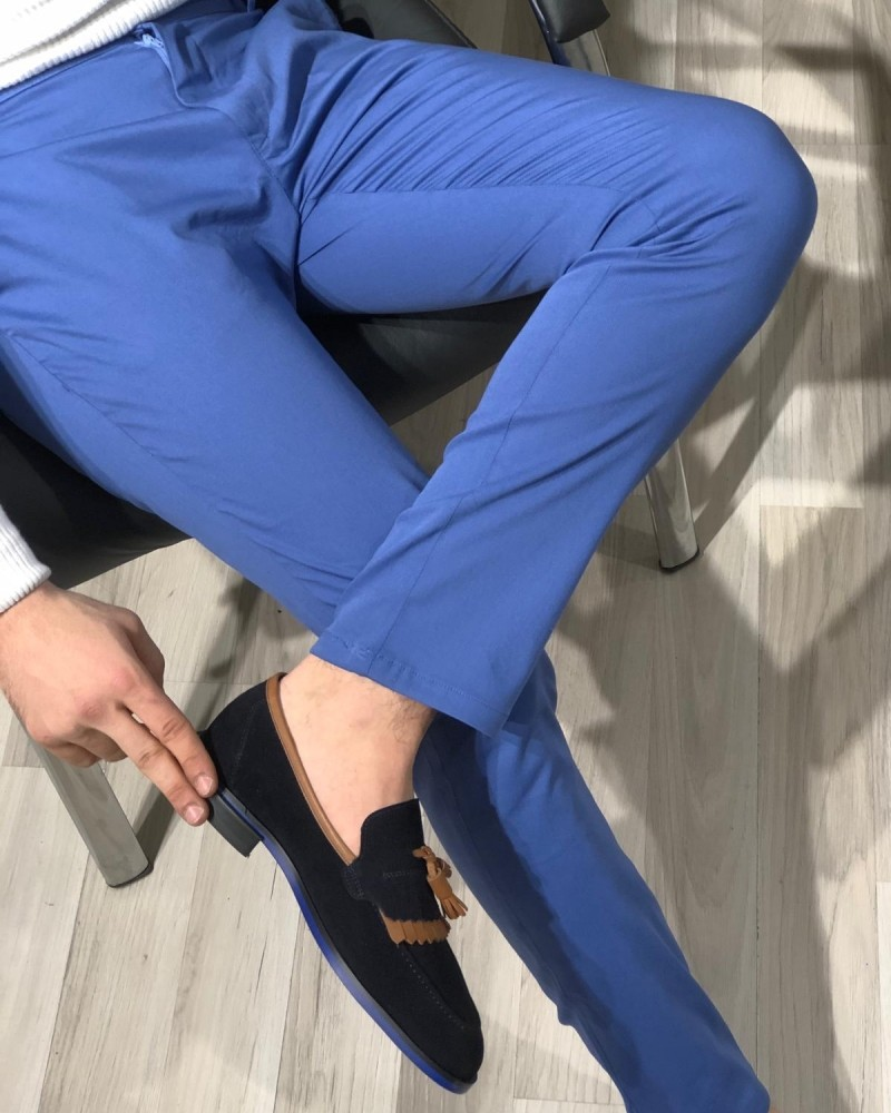 Sax Slim Fit Cotton Pants by Gentwith.com with Free Shipping