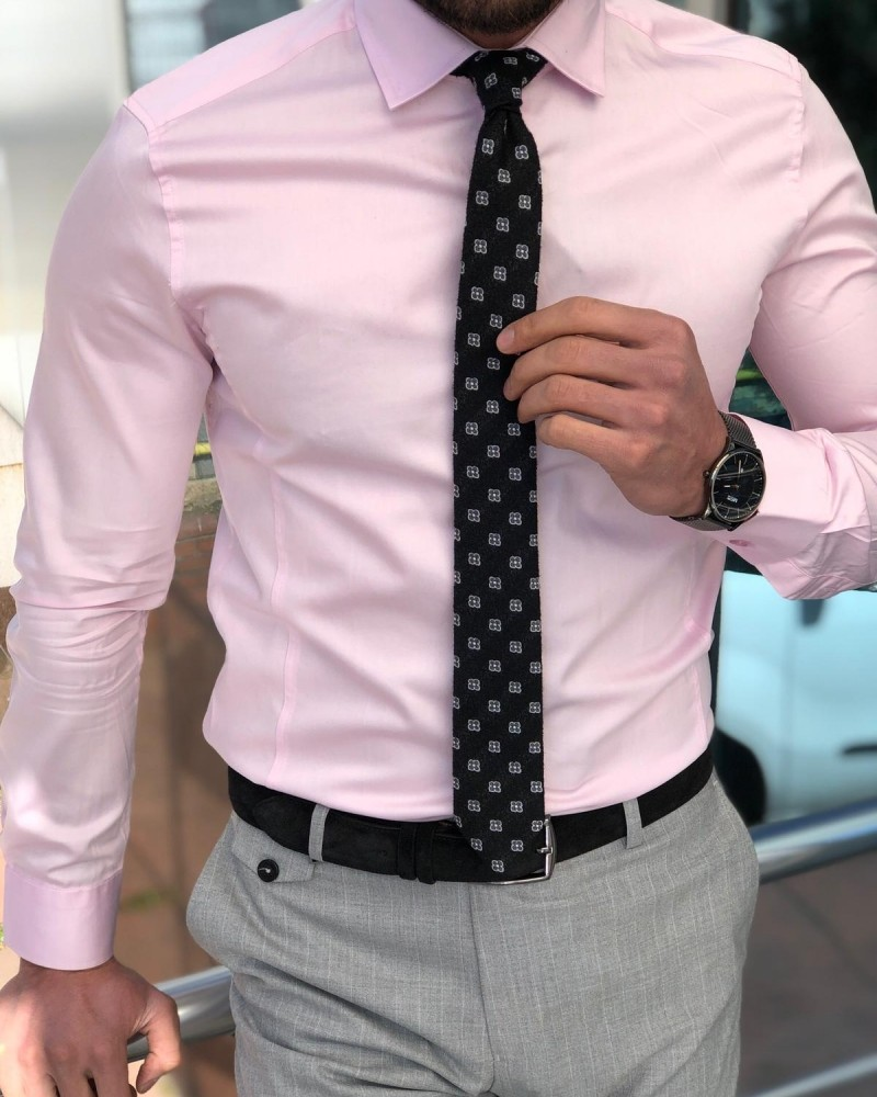 Pink Slim Fit Dress Shirt by GentWith.com with Free Shipping