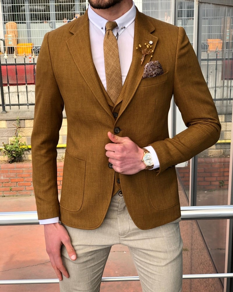 Camel Suit by GentWith.com with Free Shipping
