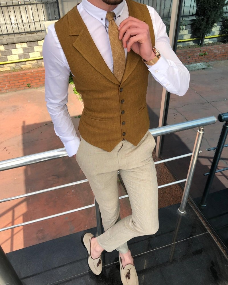 Camel Vest Men by Gentwith.com with Free Shipping