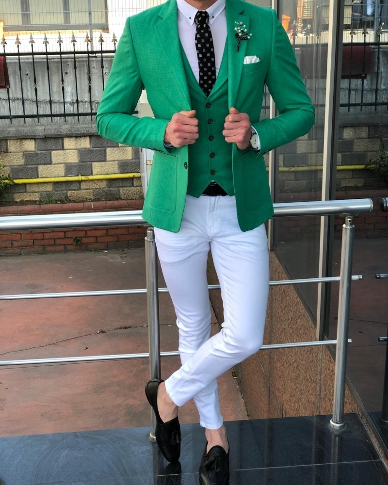 Green Suit Men by GentWith.com with Free Shipping