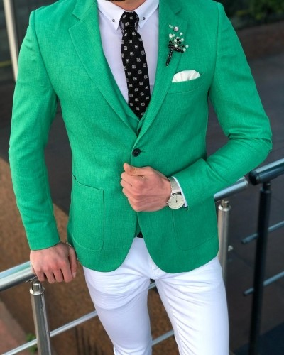 Green Suit by GentWith.com with Free Shipping