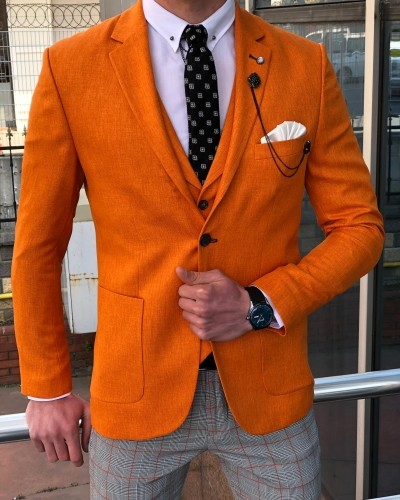Orange Suit by GentWith.com with Free Shipping