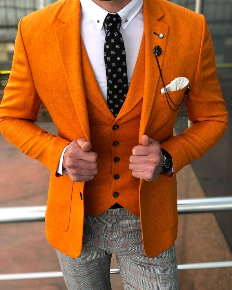 Orange Suit Men by GentWith.com with Free Shipping