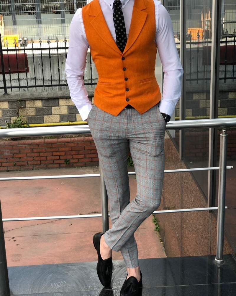 Orange Vest by Gentwith.com with Free Shipping