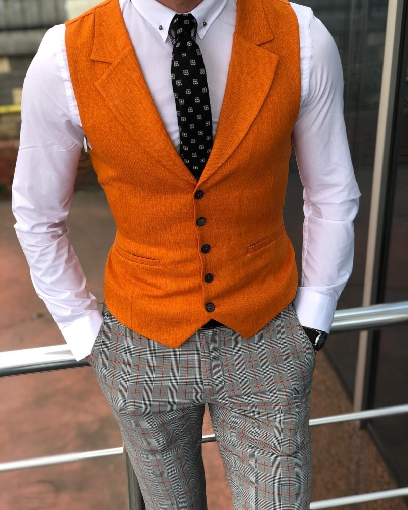 Orange Vest Men by Gentwith.com with Free Shipping